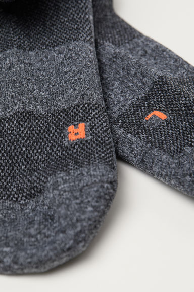 3-pack sports socks - Grey marl/White - Men | H&M IN