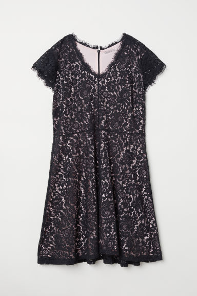 H&M+ Dress - Black/Lace -  | H&M GB