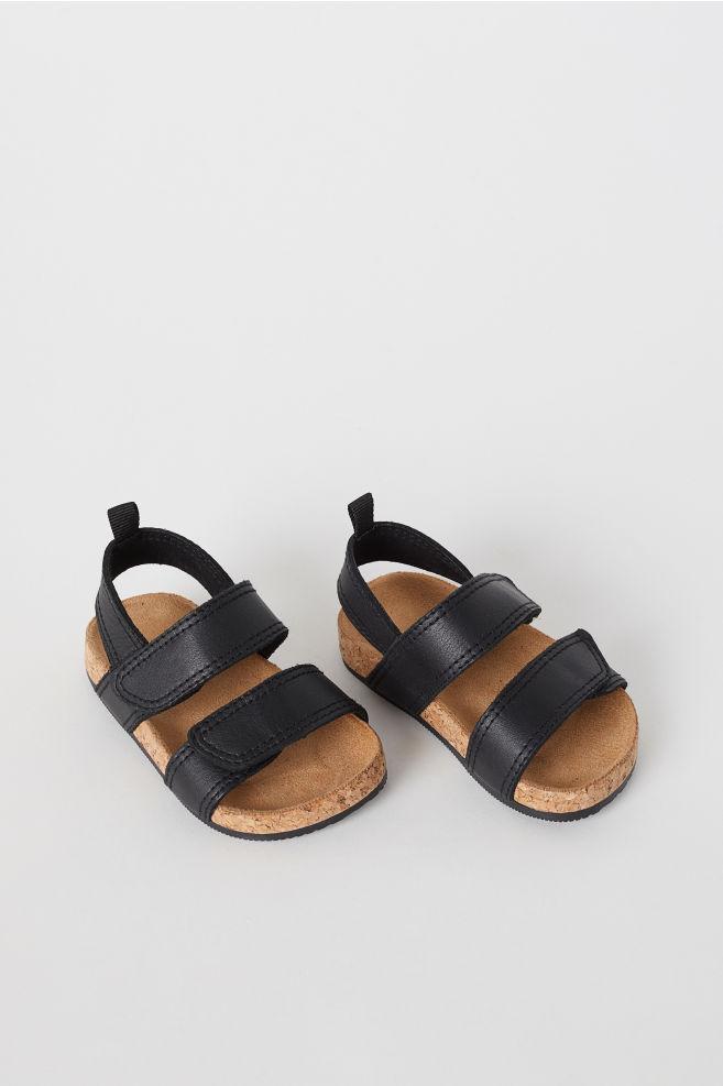 dac57d4a65e5d8 Leren sandalen - Zwart - KINDEREN   H&M ...