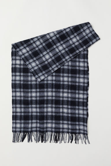 Wool Scarf - Black/checked - Men | H&M US