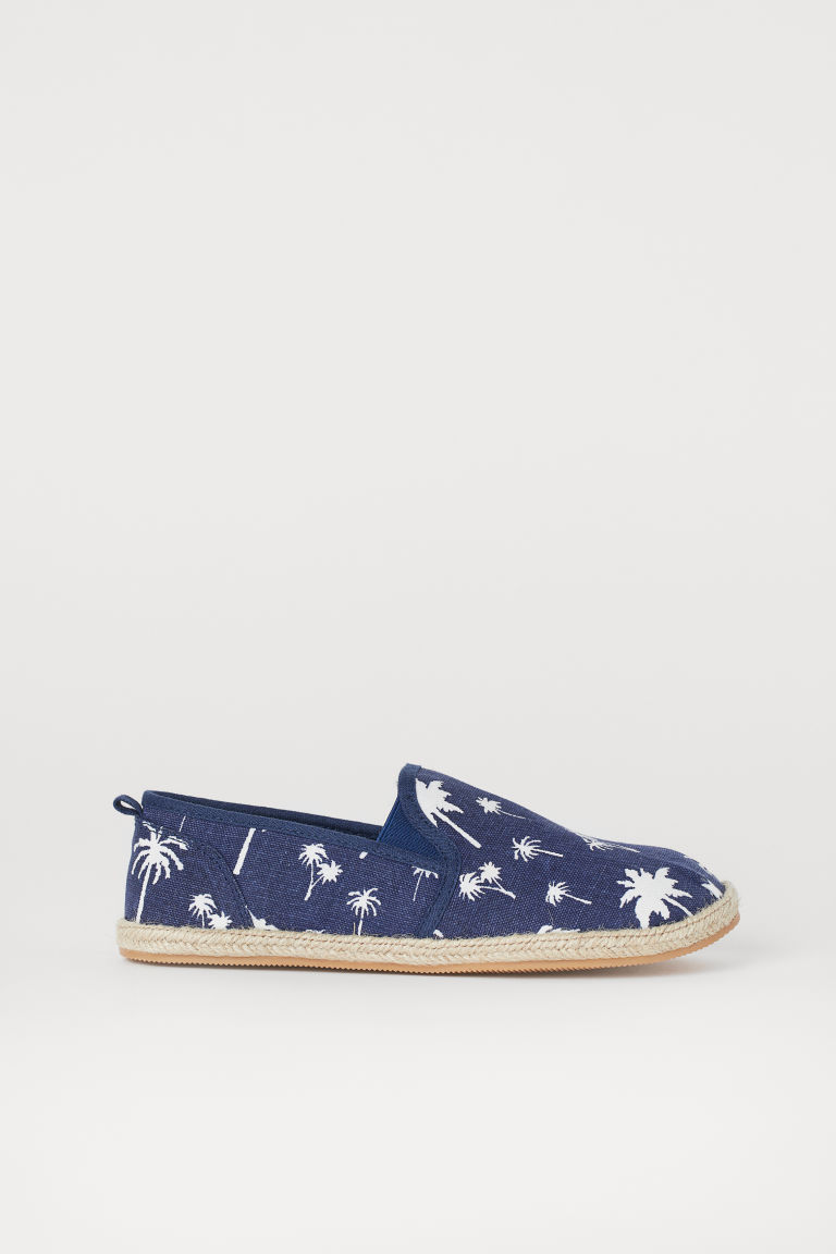 Espadrilles - Dark blue/Palm trees - Kids | H&M GB