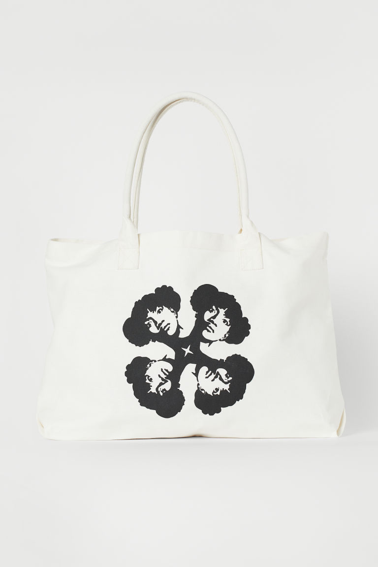 Large canvas shopper - White - Ladies | H&M CN
