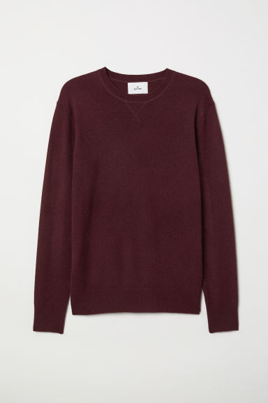 Cashmere jumper - Burgundy - Men | H&M
