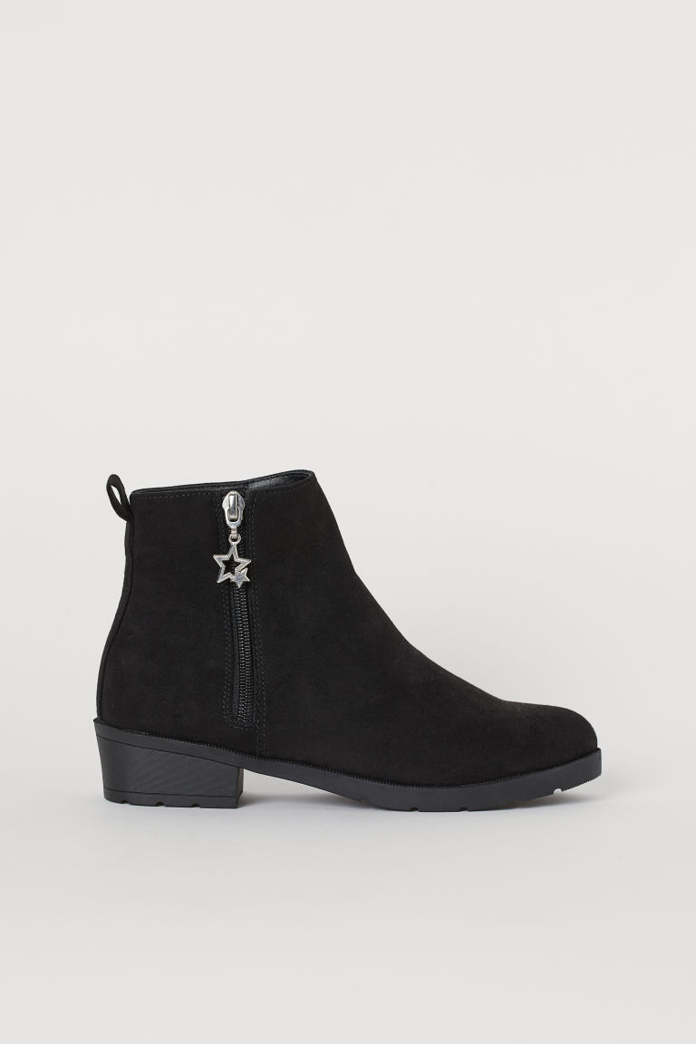 Low-heeled Ankle Boots - Black - Kids | H&M US
