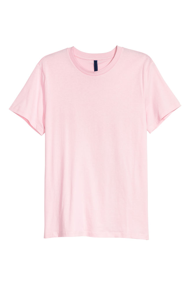 ed37abac Round-necked T-shirt - Light pink - Men | H&M ...