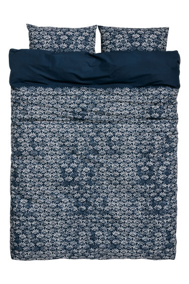 Funda nórdica estampada - Azul oscuro/Estampado - HOME | H&M ES