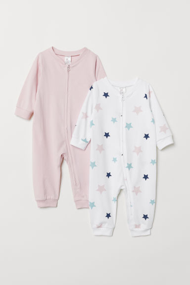 2-pack jersey pyjamas - Light pink/Stars - Kids | H&M CN