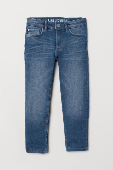 Skinny Fit Lined Jeans - Denim blue - Kids | H&M IN
