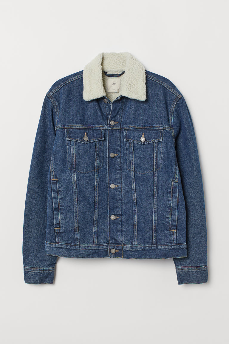 Chamarra en denim - Azul denim - Men | H&M MX