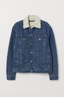 5cdf30e4adf1 Plyšom podšitá džínsová bunda
