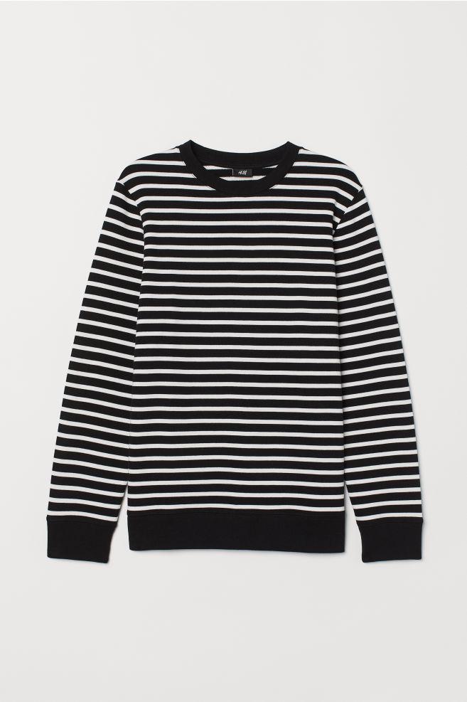 ae021640b Striped Sweatshirt - Black white striped - Men