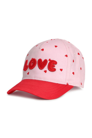 Berretto in cotone con ricamo - Rosa/Love -  | H&M IT