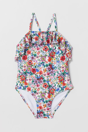 Pattern Flounced Swimsuit