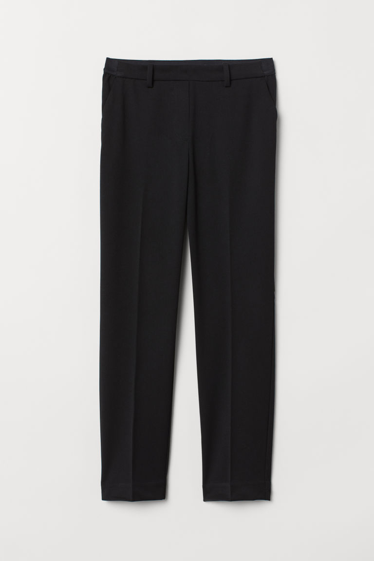 Pull-on cigarette trousers - Black - Ladies | H&M