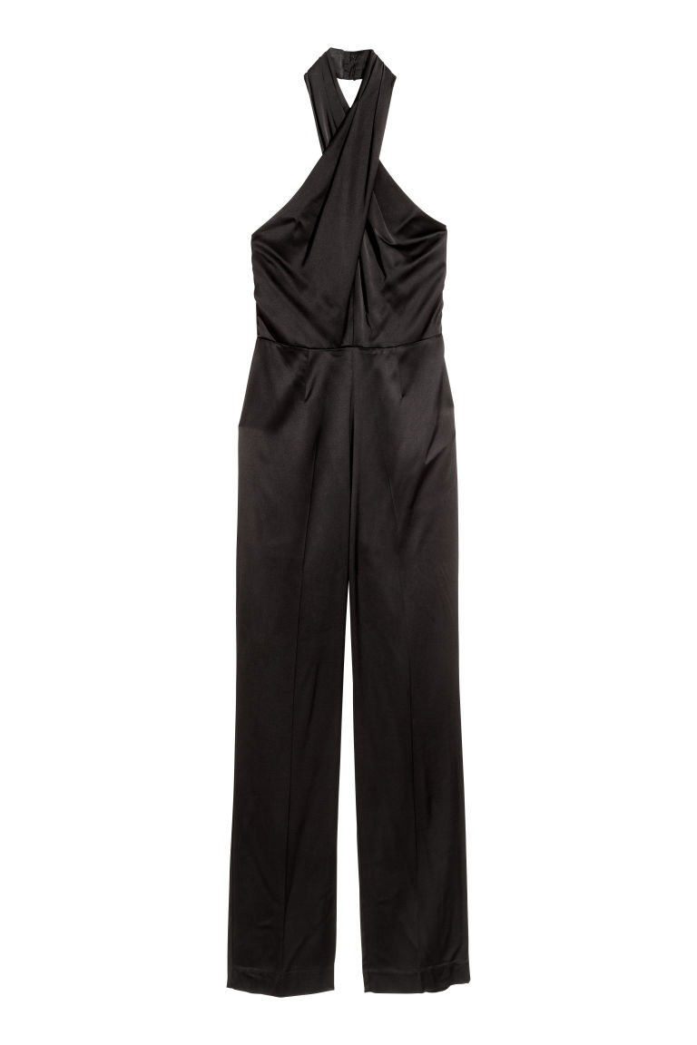 Satin jumpsuit - Black -  | H&M