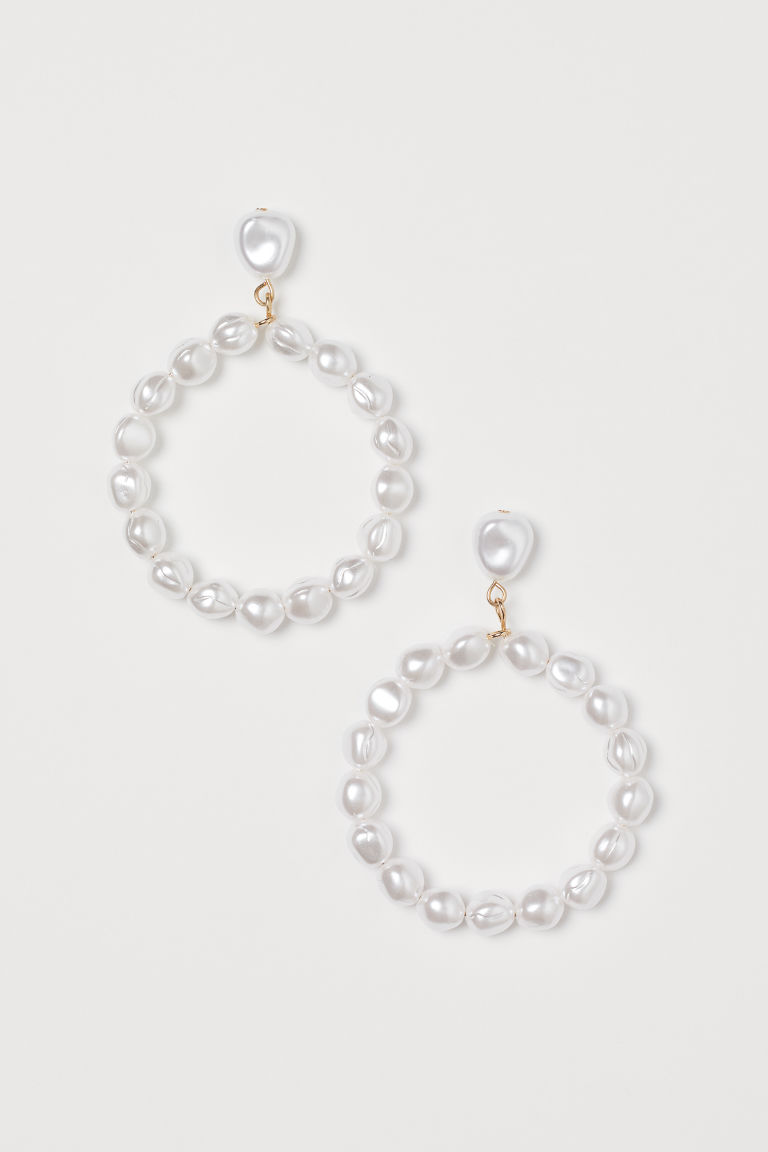 Faux Pearl Earrings - White - Ladies | H&M CA