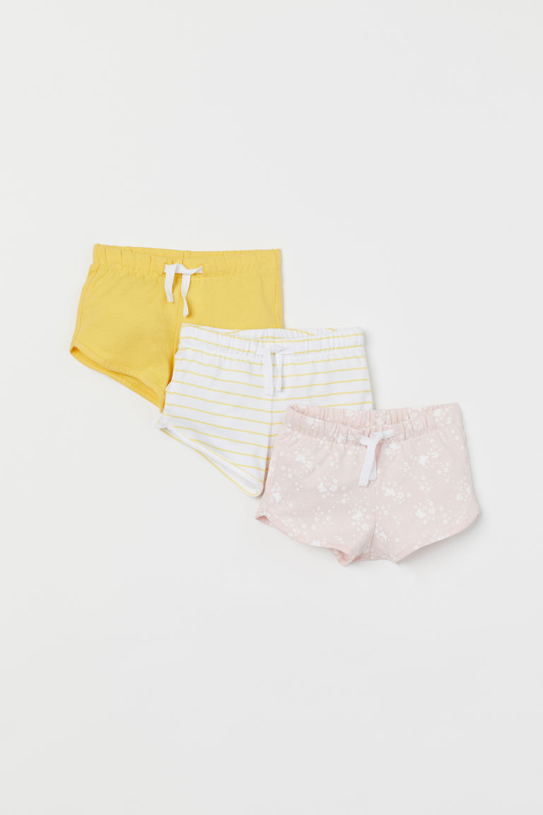 3-pack jersey shorts - Powder pink/Butterflies - Kids | H&M GB