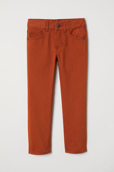 Twill trousers - Red-brown - Kids | H&M CN