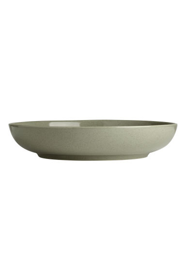 Stoneware salad bowl - Dusky green - Home All | H&M GB