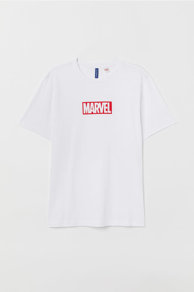 363ebdad ... T-shirt with Printed Design - White/Marvel - Men | H&M ...