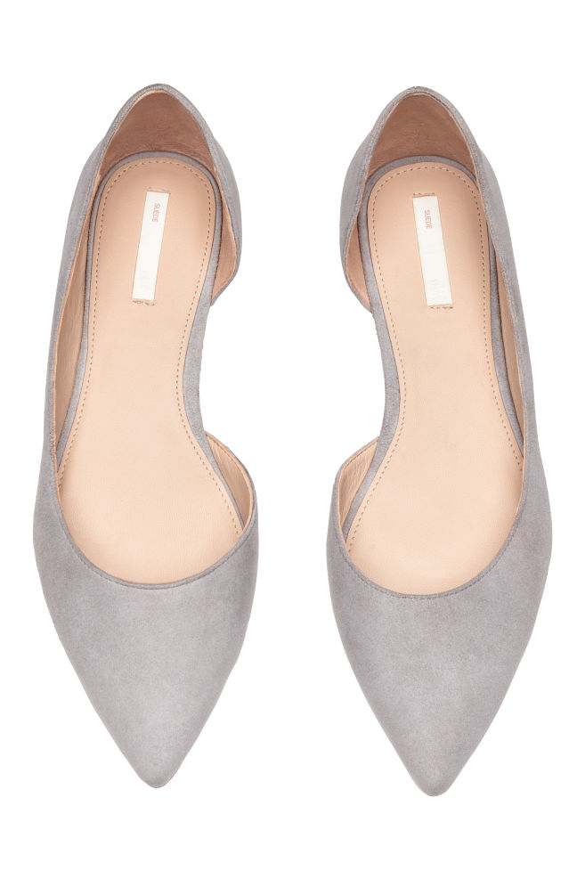 e650487ed2ec Pointed ballet pumps - Grey - Ladies