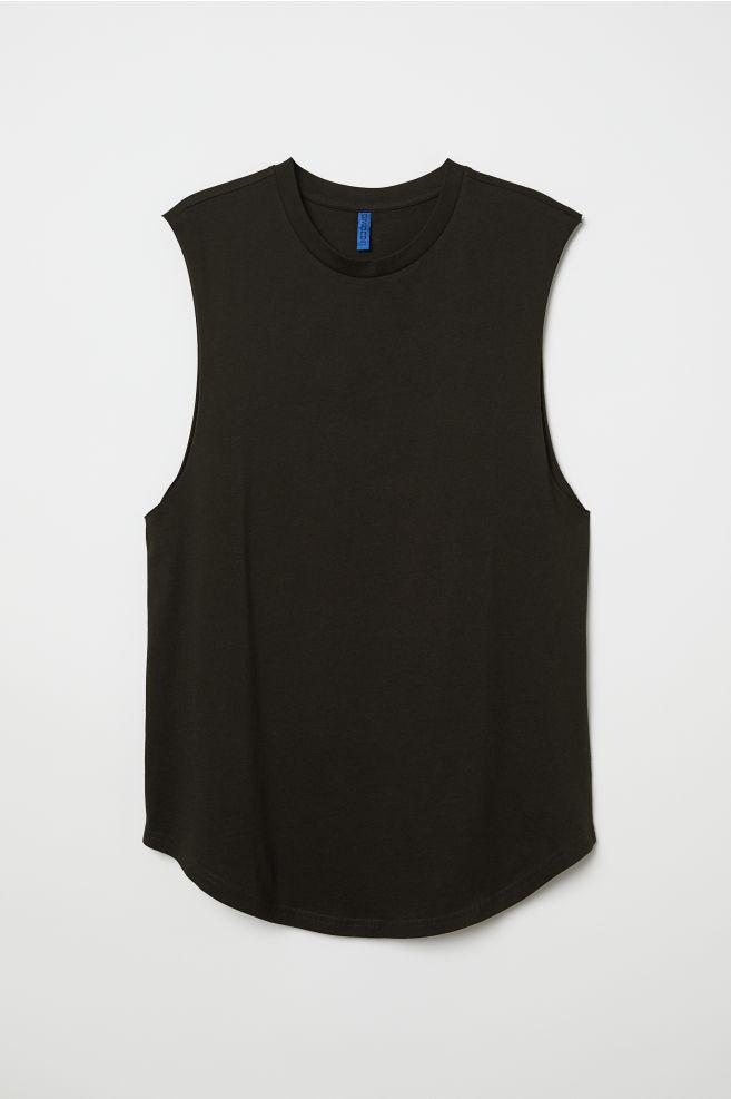 7ff209866e6b3 ... Sleeveless T-shirt - Black - Men | H&M ...