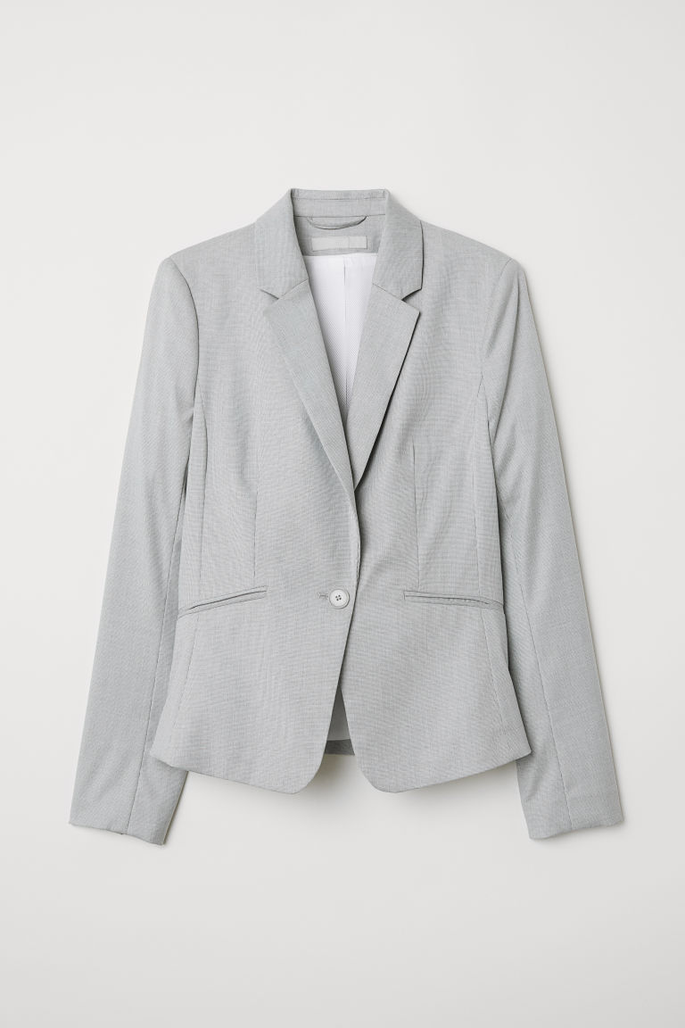 Fitted jacket - Light grey - Ladies | H&M