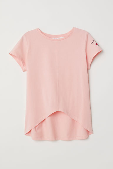 Tricot top - Lichtkoraal -  | H&M BE