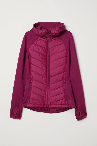 Padded outdoor jacket - Plum -  | H&M