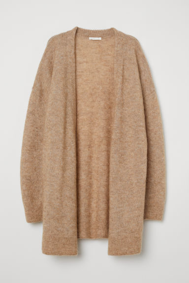 Mohair-blend cardigan - Beige marl - Ladies | H&M CN