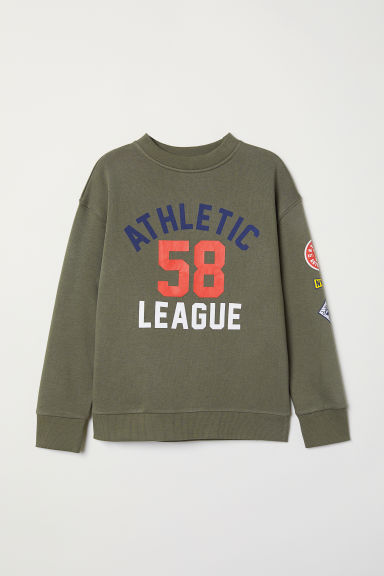 Sweatshirt - Khaki green/Athletic League - Kids | H&M