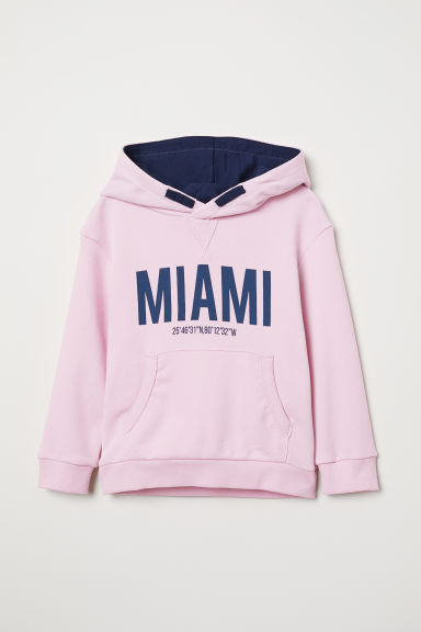 Hooded top - Light pink/Miami - Kids | H&M CN