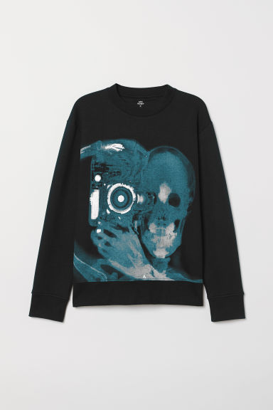 Printed sweatshirt - Black/Photographer - Men | H&M