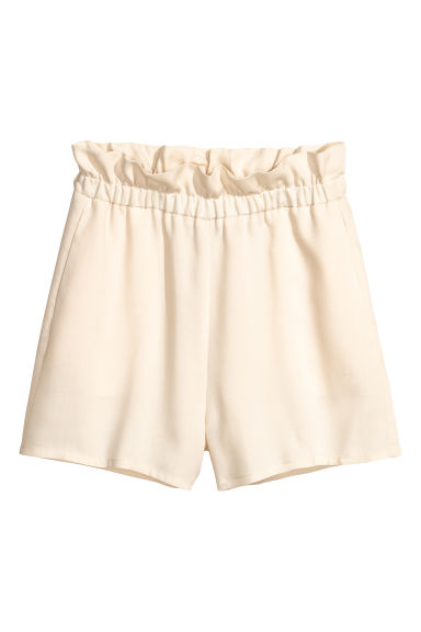 Lyocell shorts - Natural white - Ladies | H&M CN