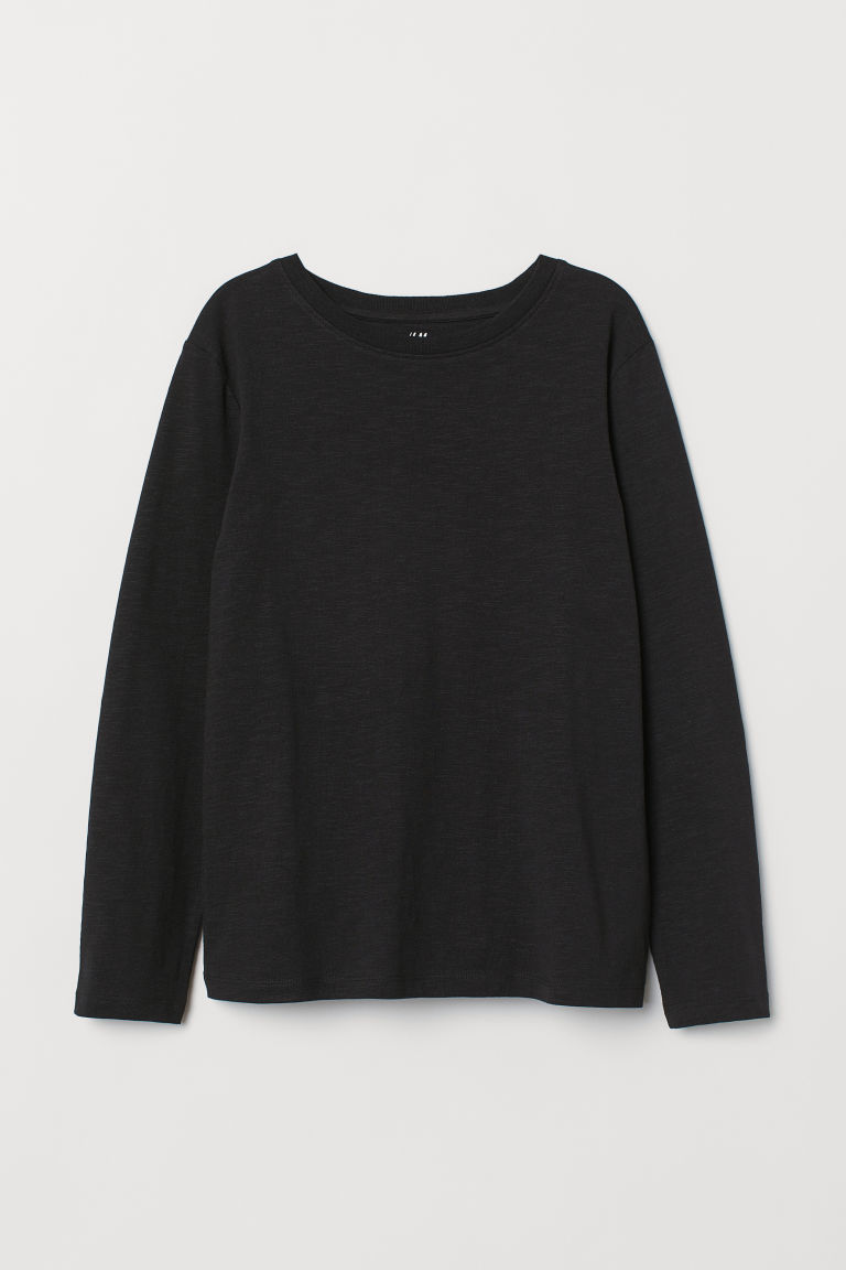 Jersey top - Black - Kids | H&M CN