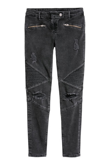 Super Skinny Low Ankle Jeans - Dark grey denim -  | H&M