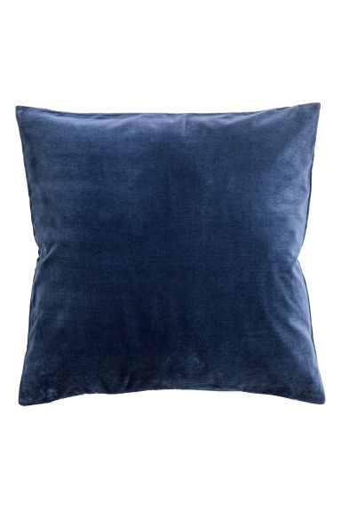 Cotton Velvet Cushion Cover - Dark blue - Home All | H&M CA