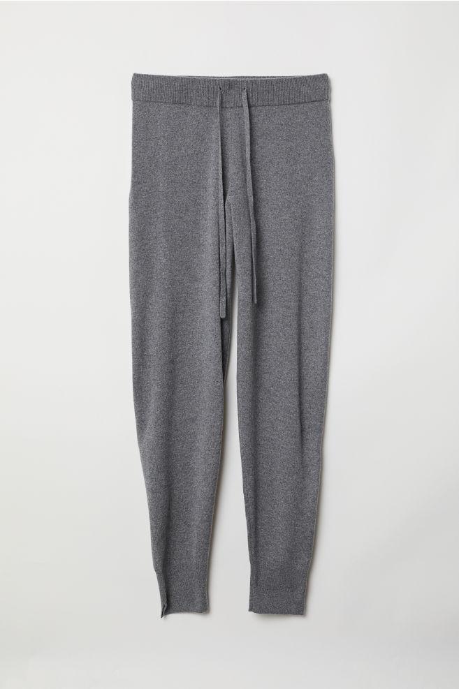 2c8234f06ba Cashmere Joggers - Dark gray melange - Ladies | H&M ...