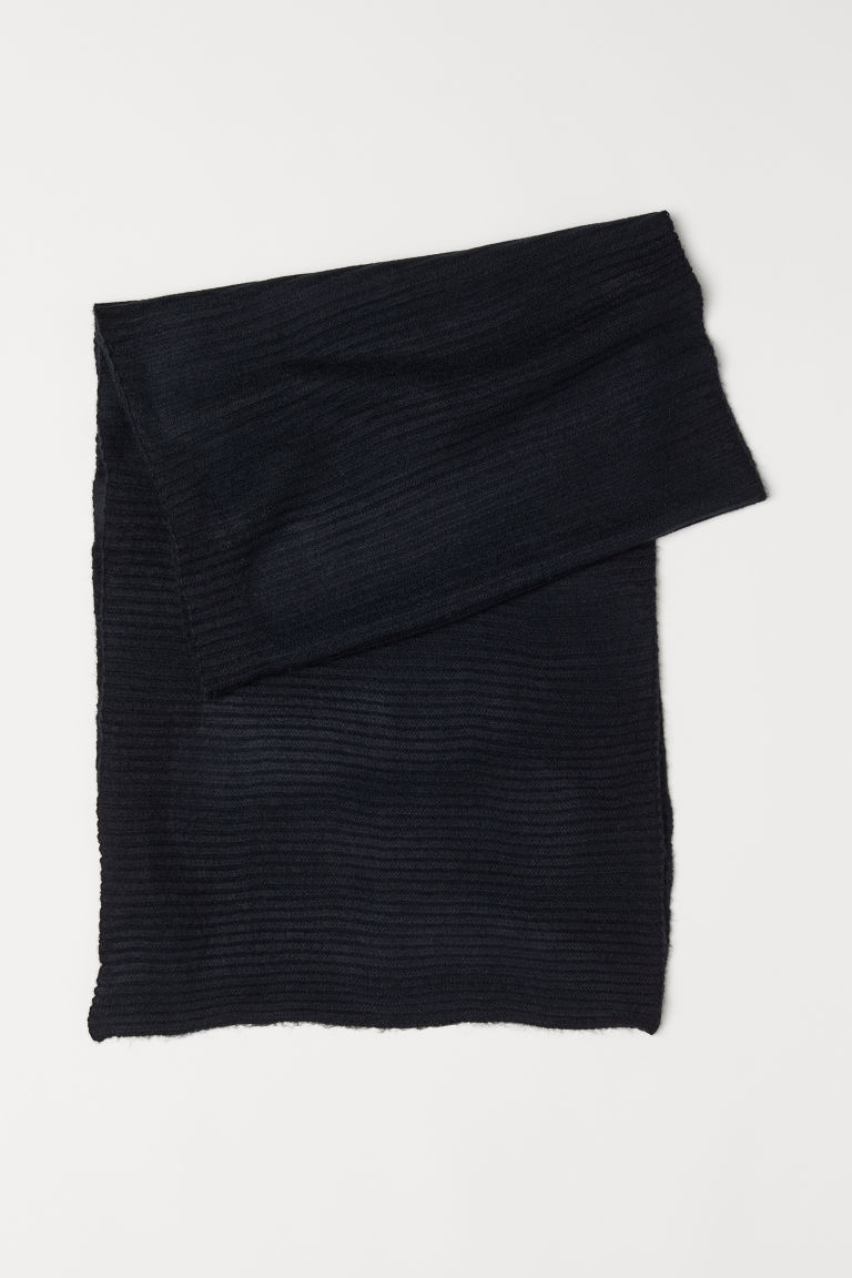 Ribbed scarf - Black - Ladies | H&M