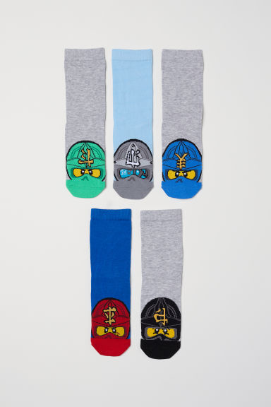 5-pack socks - Blue/Ninjago - Kids | H&M