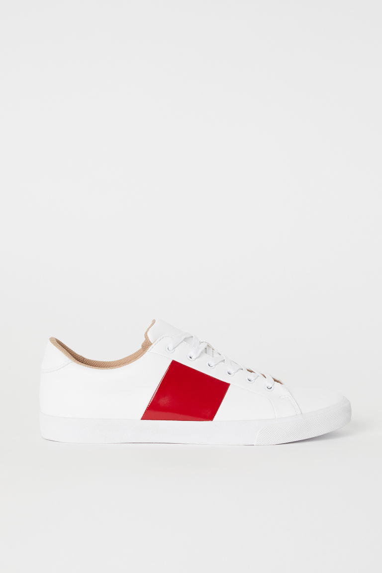 Trainers - White/Red - Men | H&M CN