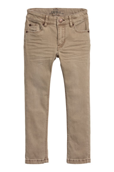 Stretch trousers - Dark beige -  | H&M CN