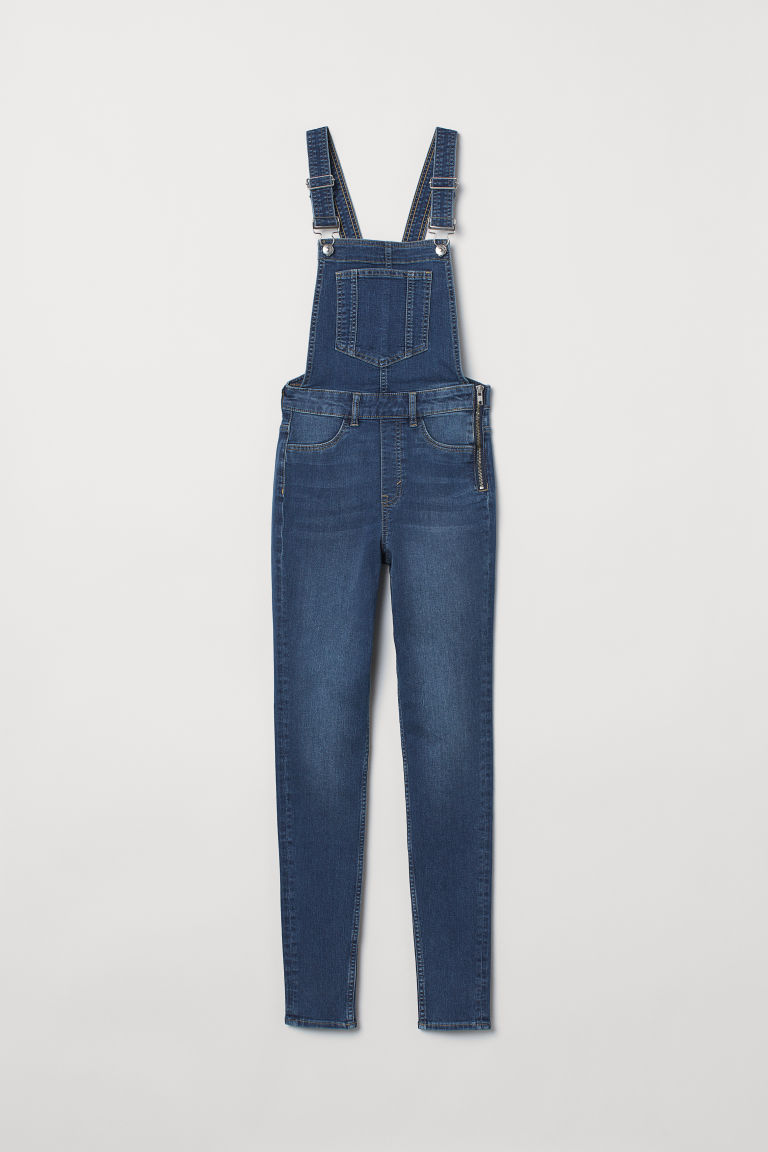 Denim Bib Overalls - Denim blue -  | H&M US
