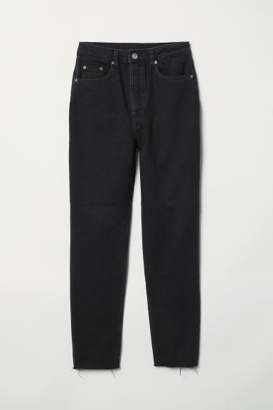 Slim Mom Jeans - Black denim -  | H&M