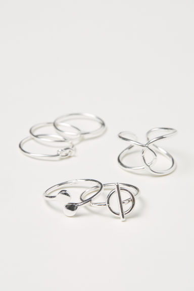 6-pack rings - Silver-coloured -  | H&M CN