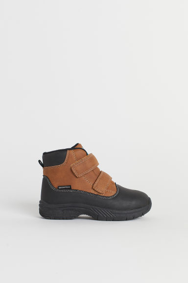 Waterproof hi-top boots - Brown -  | H&M