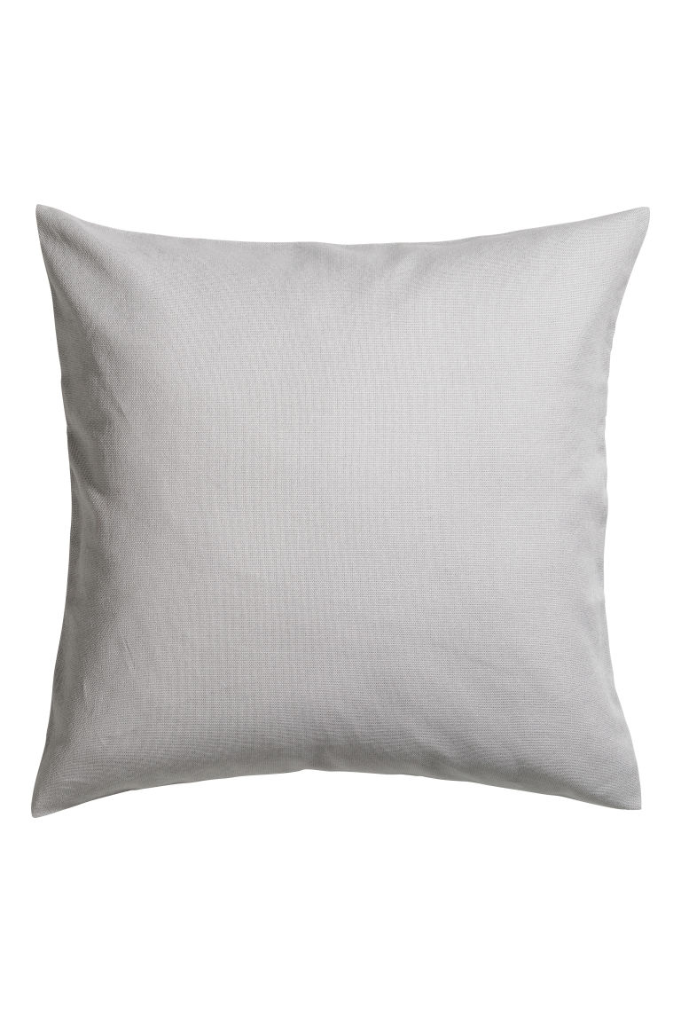 Cotton canvas cushion cover - Light grey - Home All | H&M CN