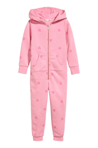 Sweatshirt all-in-one suit - Pink/Hearts - Kids | H&M CN