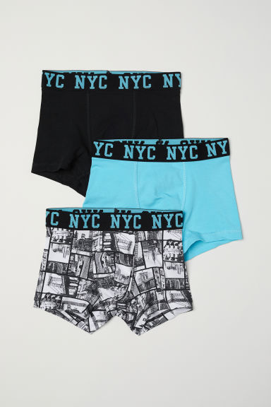 3-pack boxer shorts - Light turquoise/Patterned - Kids | H&M CN