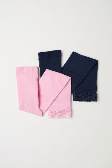 2-pack leggings - Pink/Dark blue - Kids | H&M CN